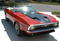 71 Red Convertable